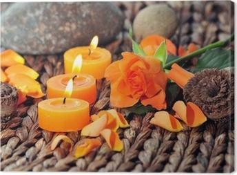 Canvas Wellness Kerzen Dekoration