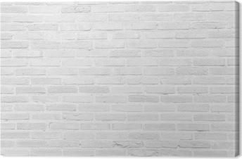 Canvas White grunge bakstenen muur textuur achtergrond