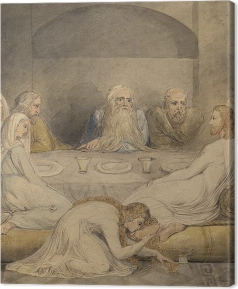 Canvas William Blake - Jezus gezalfd door een zondares - Reproducties