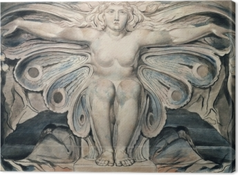 Canvas William Blake - Personificatie van de Dood