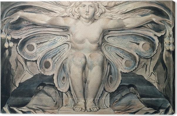Canvas William Blake - Personificatie van de Dood - Reproducties
