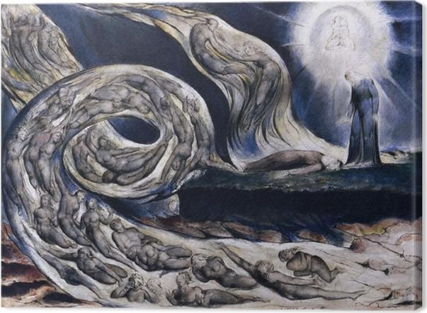Canvas William Blake - Wervelwind van minnaars - Reproducties