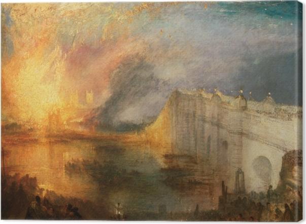 Canvas William Turner - De brand van het Hogerhuis en het Lagerhuis - Reproducties