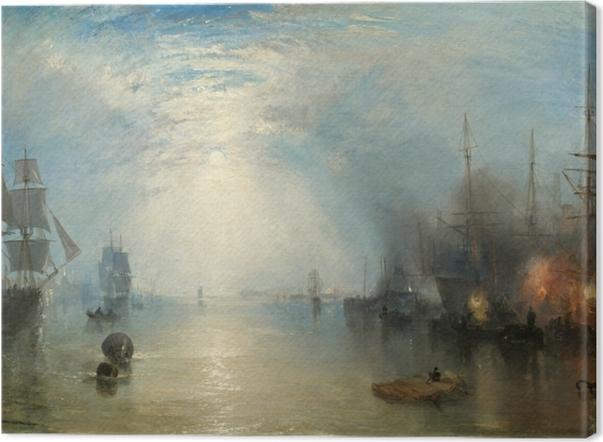 Canvas William Turner - De overslag van de steenkool bij maanlicht - Reproducties