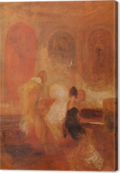 Canvas William Turner - Een muziekfeest, East Cowes Kasteel - Reproducties