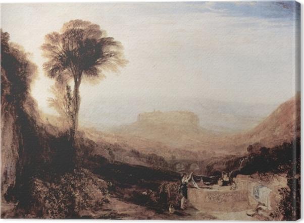 Canvas William Turner - Uitzicht van Orvieto, geschilderd in Rome - Reproducties