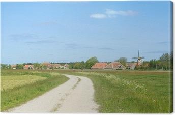 Canvas Windmolen bij Nederlandse eiland Terschelling