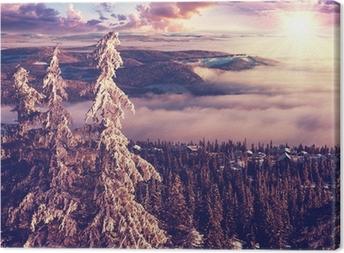 Canvas Winter in Noorwegen