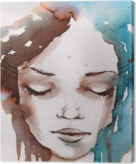 Canvas Winter, koude portret