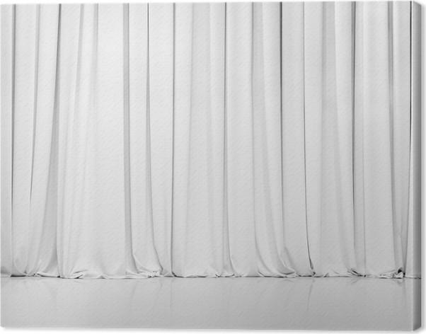 Canvas Wit gordijn of gordijnen achtergrond • Pixers® - We leven om ...