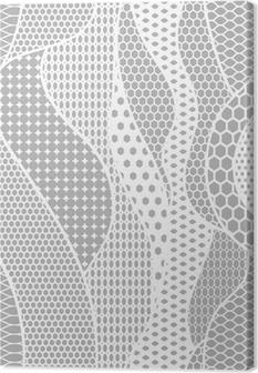 Canvas Wit kant vector weefsel naadloze patroon met lijnen en golven