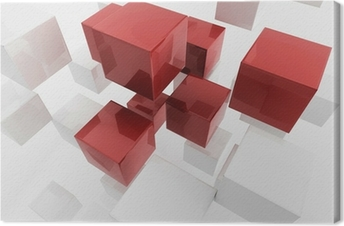 Canvas Witte 3d dozen / cube | Business Concept Wallpaper