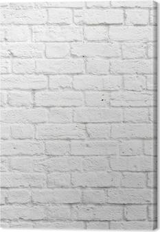 Canvas Witte bakstenen muur