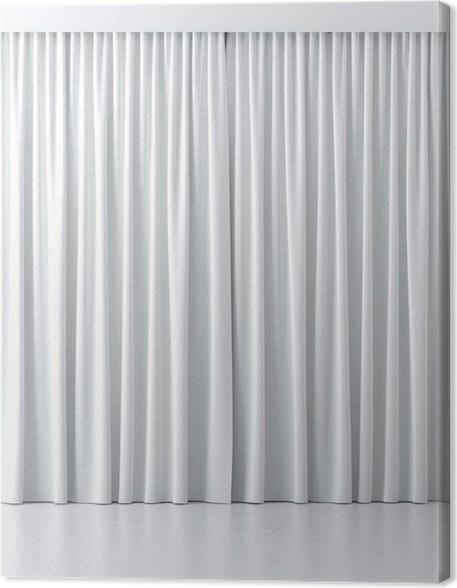 Canvas Witte gordijnen • Pixers® - We leven om te veranderen