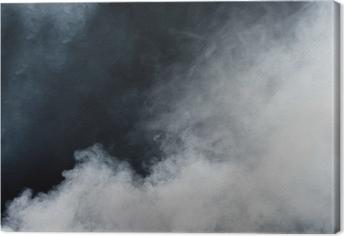 Canvas Witte rook op zwarte achtergrond. Geïsoleerd.
