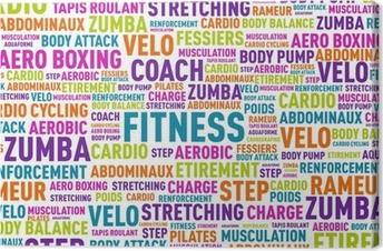 Canvas Word cloud - fitness