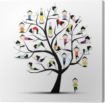 Canvas Yoga, boom concept voor uw ontwerp