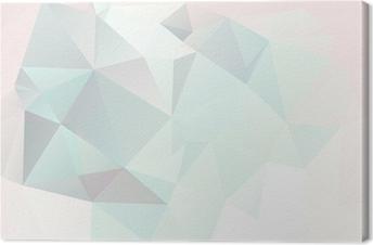 Canvas Zachte pastel abstracte geometrische achtergrond met hellingen vector