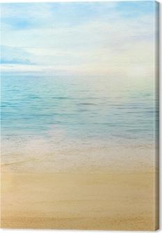 Canvas Zee en zand achtergrond