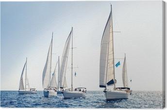 Canvas Zeilschip jachten met witte zeilen