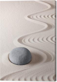 Canvas Zen meditatie steen