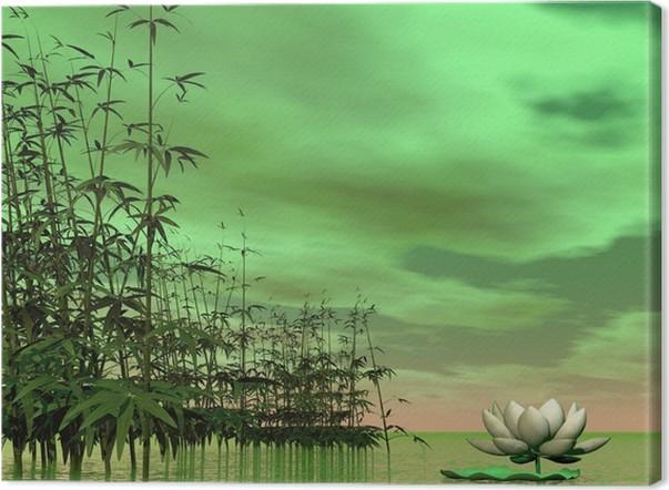 Canvas zen natuur 3d render u2022 pixers® we leven om te veranderen