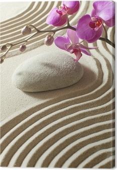 Canvas Zen oosterse bloem