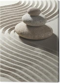 Canvas Zen zand wave en drie rollen