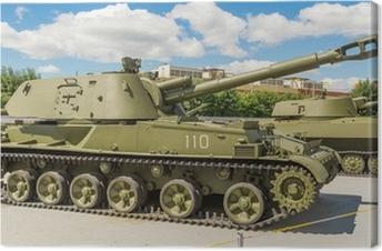 Canvas Zware tank militair museum exposeren