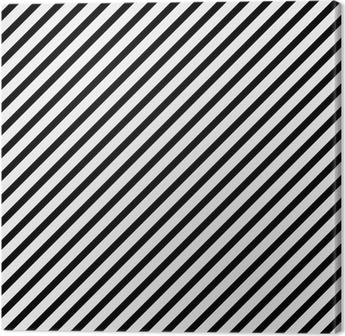 Canvas Zwart-wit Diagonaal Gestreept Patroon Herhalen Achtergrond