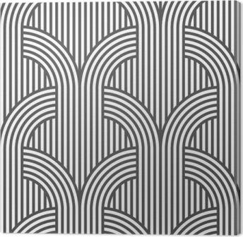 Canvas Zwart-wit gestreepte geometrische naadloze patroon - variatie 5