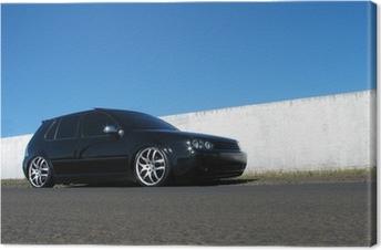 Canvas Zwarte auto