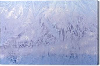 Canvastavla Декоративный морозный узор на стекле