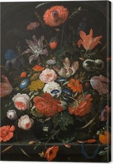Canvastavla Abraham Mignon - Flowers in a Glass Vase