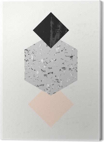 Canvastavla Abstrakt geometriskt komposition - Grafiska resurser