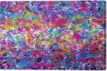 Canvastavla Abstrakt graffiti