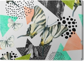 Canvastavla Abstrakt naturlig geometrisk seamless