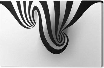 Canvastavla Abstrakt spiral med tomt utrymme