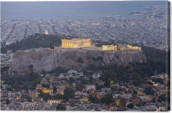 Canvastavla Akropolis och Parthenon, Aten, Grekland