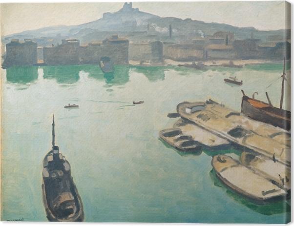 Canvastavla Albert Marquet - Haven van Marseille - Reproductions