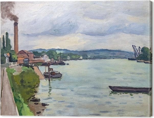 Canvastavla Albert Marquet - Seine in de buurt van Rouen - Reproductions
