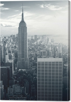 Canvastavla Amazing view to New York Manhattan at sunset