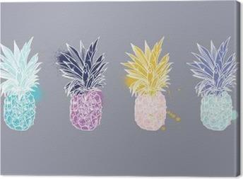Canvastavla Ananas tropisk frukt. Vektorobjekt.