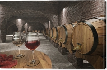 Canvastavla Ancient vinkällare