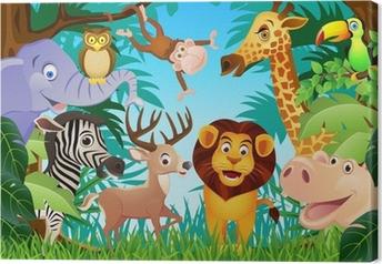 Canvastavla Animal tecknad