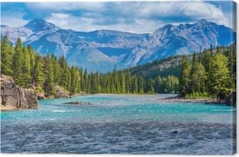 Canvastavla Båg flod, banff, alberta, canada