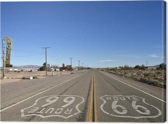Canvastavla Bagdad Kalifornien - Historic Route 66