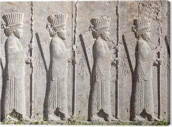 Canvastavla Bas lättnad dekoration i Persepolis