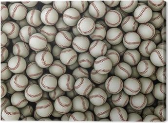 Canvastavla Baseballs bakgrund
