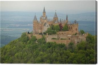 Canvastavla Blick auf die Burg Hohenzollern im Frühjahr